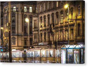 Tram Night Canvas Print