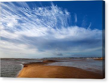 Tramore Strand And Town From The Dunes Canvas Print by Panoramic Images