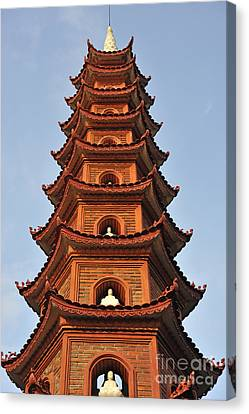 Tran Quoc Pagoda In Hanoi Canvas Print by Sami Sarkis