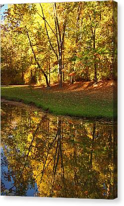 Reflections Of Nature Canvas Print - Tranquil Autumn by Kim Hojnacki