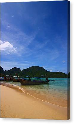 Tranquil Beach Canvas Print by FireFlux Studios