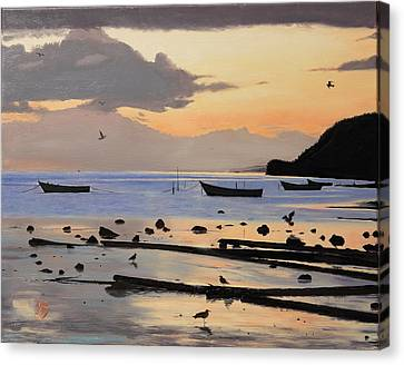 Canvas Print featuring the painting Tranquil Dawn by Glenn Beasley