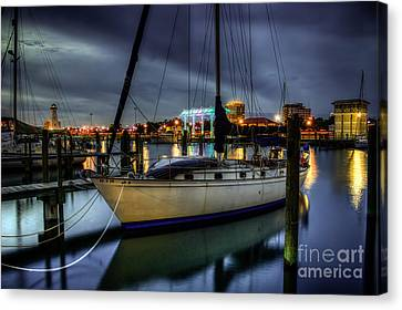 Tranquil Harbour Evening Canvas Print by Maddalena McDonald