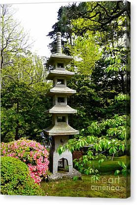 Tranquil Japanese Garden Canvas Print by Avis  Noelle