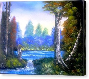 Bob Ross Canvas Print - Tranquil Lake by Fineartist Ellen