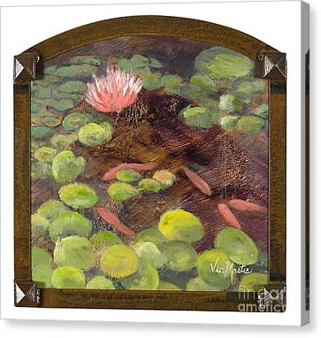 Tranquil Moments With Gold Leaf By Vic Mastis Canvas Print by Vic  Mastis