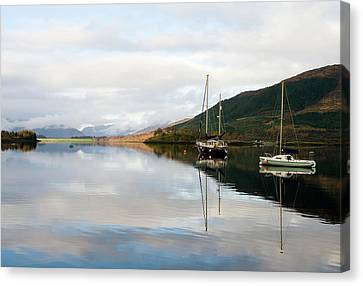 Tranquil Scottish Scene Canvas Print by Jacqi Elmslie