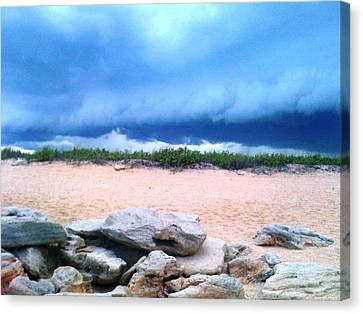 Tranquil Storm Canvas Print by Julie Wilcox