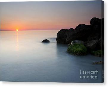 Tranquil Sunset Canvas Print by Mike  Dawson