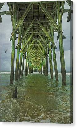 Tranquil Topsail Surf City Pier Canvas Print