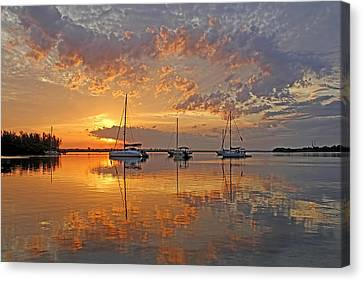 Tranquility Bay - Florida Sunrise Canvas Print