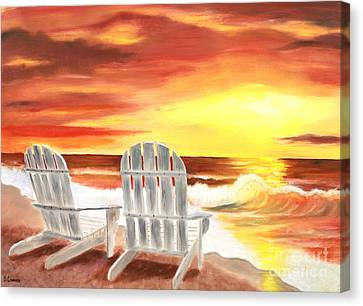 Canvas Print featuring the painting Tranquility by Bev Conover