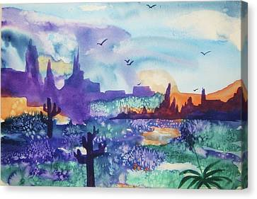Canvas Print featuring the painting Tranquility II by Ellen Levinson