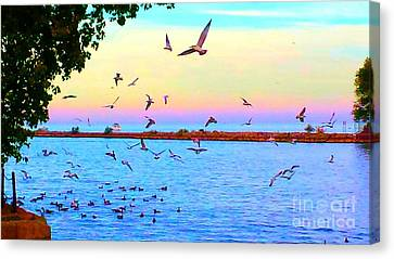 Tranquility Canvas Print by Judy Via-Wolff