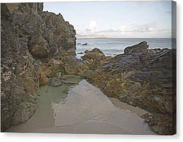 Tranquility Keem Beach Ireland Canvas Print by Betsy Knapp
