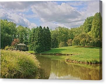 Garden Scene Canvas Print - Tranquility by Kim Hojnacki