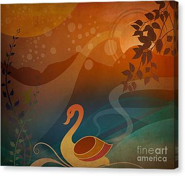 Tranquility Sunset Canvas Print by Bedros Awak