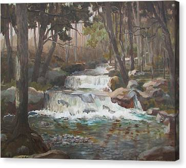 Canvas Print featuring the painting Tranquility by Tony Caviston