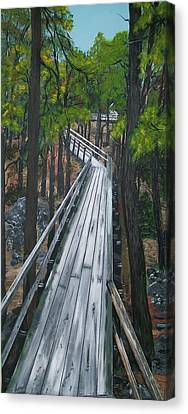 Canvas Print featuring the painting Tranquility Trail by Sharon Duguay
