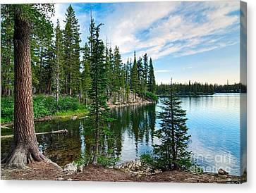 Tranquility - Twin Lakes In Mammoth Lakes California Canvas Print by Jamie Pham