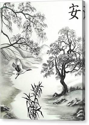 Tranquility W Kona Moringa Canvas Print