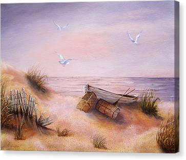 Canvas Print featuring the painting Tranquility by Roseann Gilmore