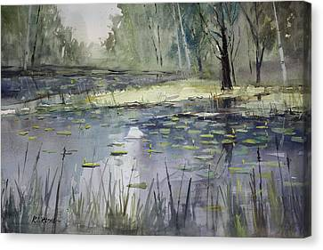 Cattail Canvas Print - Tranquillity by Ryan Radke