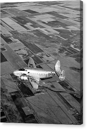 Trans-canada Passenger Plane Canvas Print by Underwood Archives