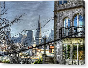 Transamerica View Canvas Print by Kevin Ashley