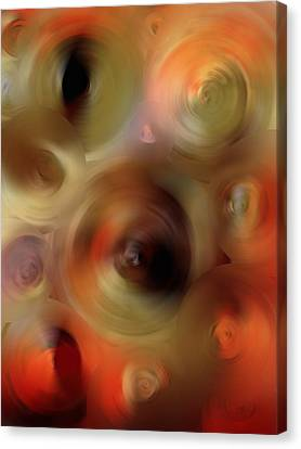 Red Green And Gold Abstracts Canvas Print - Transcendent - Abstract Art By Sharon Cummings  by Sharon Cummings