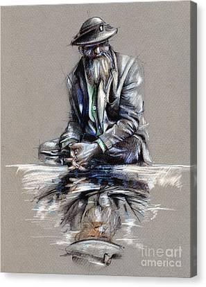 Transcendental Meditation - Drawing Canvas Print