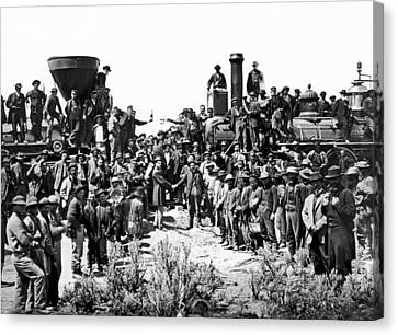 Transcontinental Railroad Canvas Print by Underwood Archives