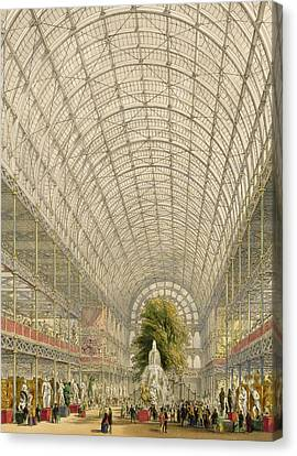 Transept Of The Crystal Palace Canvas Print by George Hawkins