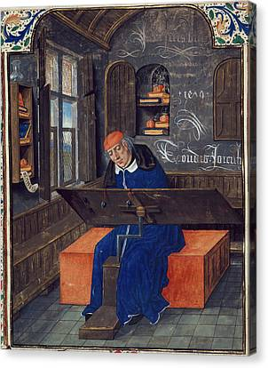 Translator At Work In His Study Canvas Print by British Library