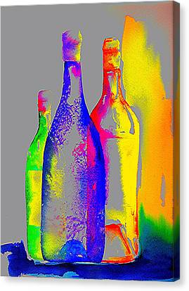Transparent Bottles Canvas Print by Joy Bradley