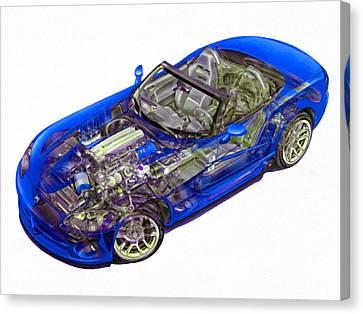 Transparent Car Concept Made In 3d Graphics 1 Canvas Print