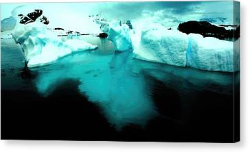Canvas Print featuring the photograph Transparent Iceberg by Amanda Stadther