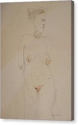 Transparent Nude Canvas Print by Esther Newman-Cohen