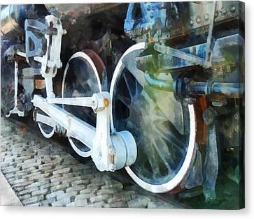 Transportation - Train Wheels Canvas Print by Susan Savad