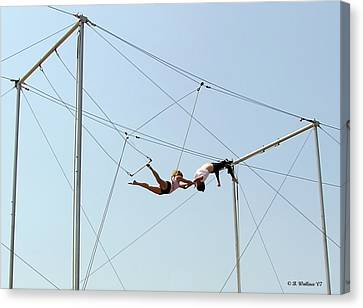 Trapeze School Canvas Print by Brian Wallace