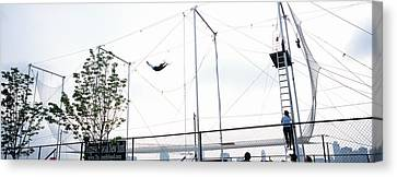 Agility Canvas Print - Trapeze School New York, Hudson River by Panoramic Images