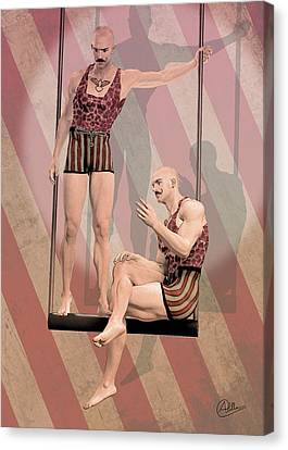 Trapezist Brothers Canvas Print by Quim Abella