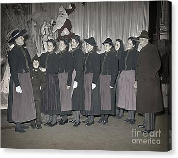 Trapp Family Singers 1945 Canvas Print by Martin Konopacki Restoration