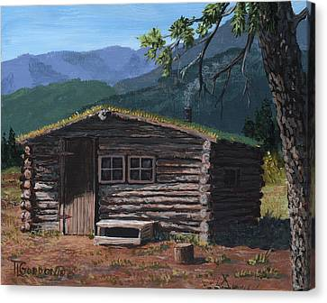 Trapper Cabin Canvas Print by Timithy L Gordon