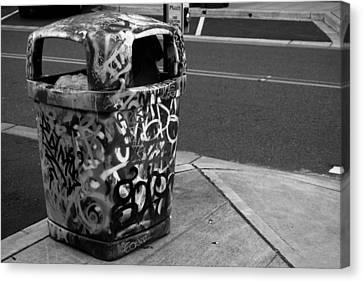 Trashcan Art Canvas Print