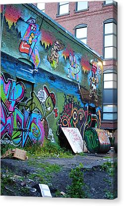 Canvas Print featuring the photograph Trashed by Paul Noble
