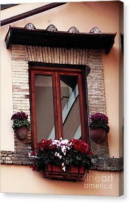 Trastevere Window Dressing Canvas Print