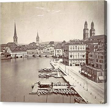 1876 Canvas Print - Travel Album With Photographs And Drawings By Manuel Mayo by Artokoloro