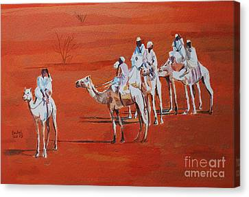 Canvas Print - Travel By Camels by Mohamed Fadul