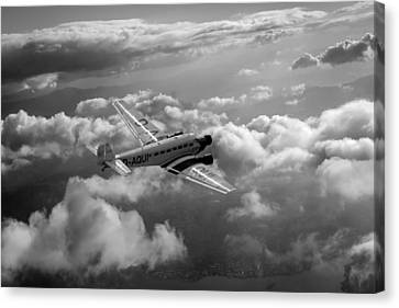 Travel In An Age Of Elegance Black And White Version Canvas Print